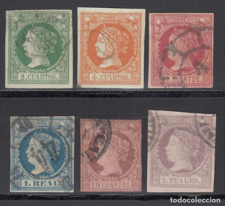 ESPAÑA. 1860-1861 EDIFIL Nº 51 / 56. ISABEL II. SERIE COMPLETA. 6 VALORES. (Sellos - España - Isabel II de 1.850 a 1.869 - Usados)