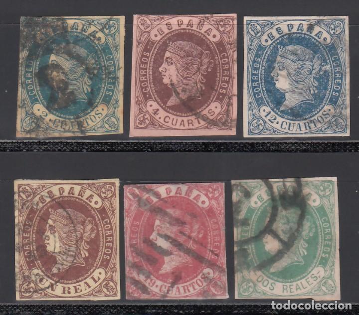ESPAÑA. 1862 EDIFIL Nº 57 / 62. ISABEL II. SERIE COMPLETA. 6 VALORES. (Sellos - España - Isabel II de 1.850 a 1.869 - Usados)