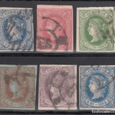Sellos: ESPAÑA. 1864 EDIFIL Nº 63 / 68. ISABEL II. SERIE COMPLETA. 6 VALORES.. Lote 244416325