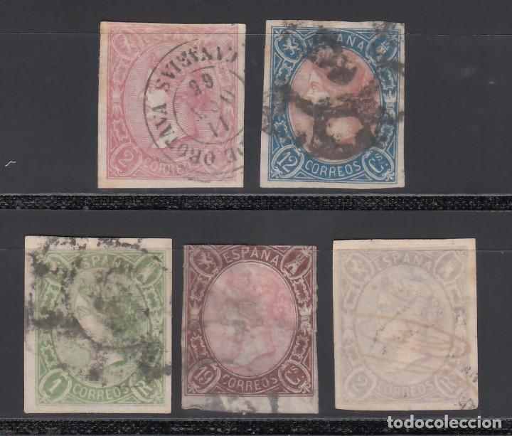 ESPAÑA. 1865 EDIFIL Nº 69 / 73. ISABEL II. 5 VALORES. (Sellos - España - Isabel II de 1.850 a 1.869 - Usados)