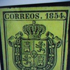 Sellos: AÑO 1854. SELLO ESPAÑA. EDIFIL 28 *. NUEVO. Lote 244466515
