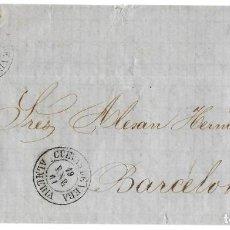 Sellos: 1861 (19 ENE) CARTA COMPLETA CUEVAS DE VERA, ALMERÍA FECH. TIPO II. SOBRE 4C.EMISIÓN ISABEL II 1860. Lote 244526225