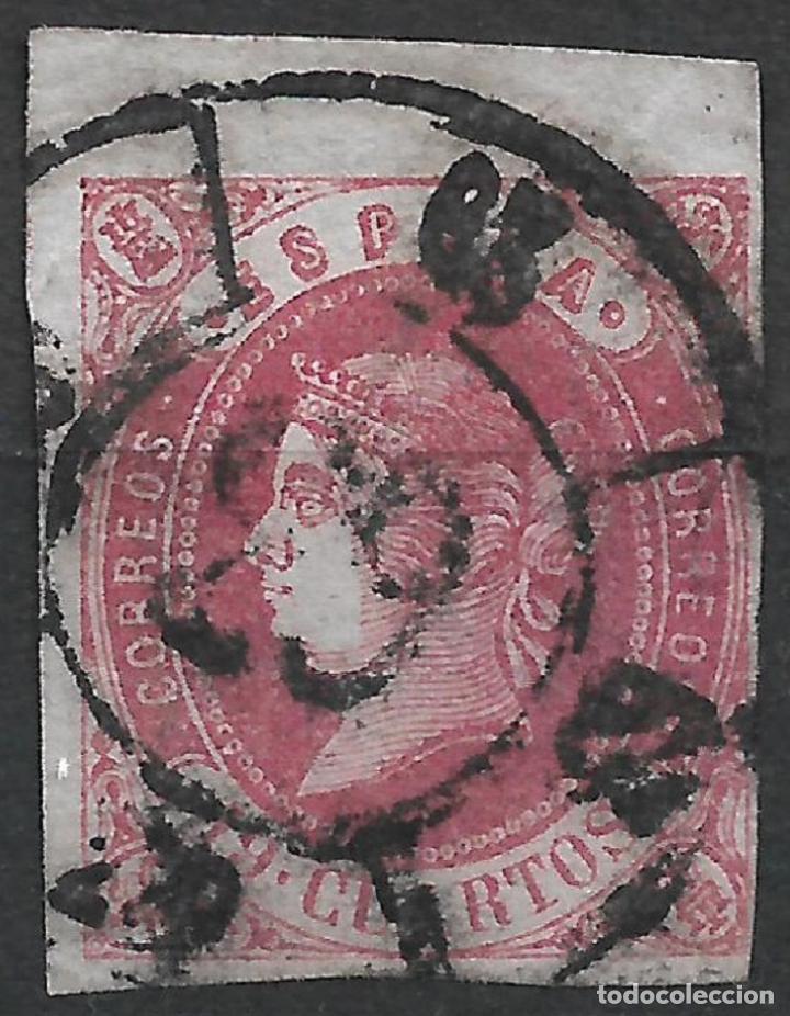 ESPAÑA 1862 EDIFIL 60 USADO CARRETA 63 SAN ROQUE 345 € - 18/27 (Sellos - España - Isabel II de 1.850 a 1.869 - Usados)