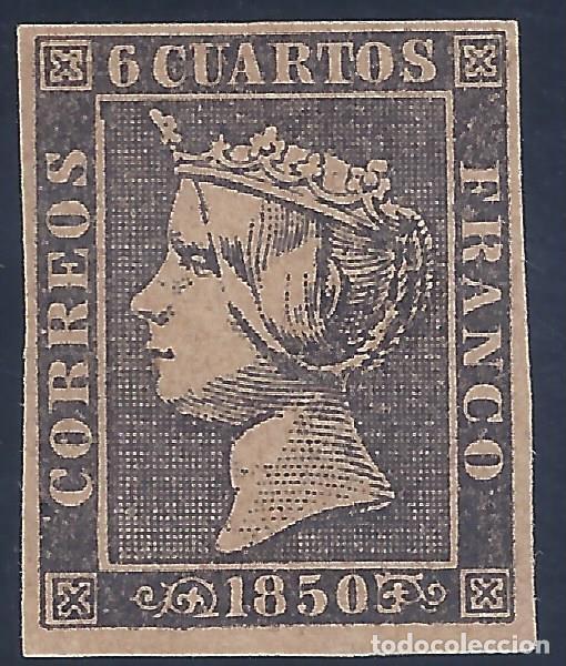 EDIFIL 1 ISABEL II. AÑO 1850. FALSO FILATÉLICO. (Sellos - España - Isabel II de 1.850 a 1.869 - Nuevos)