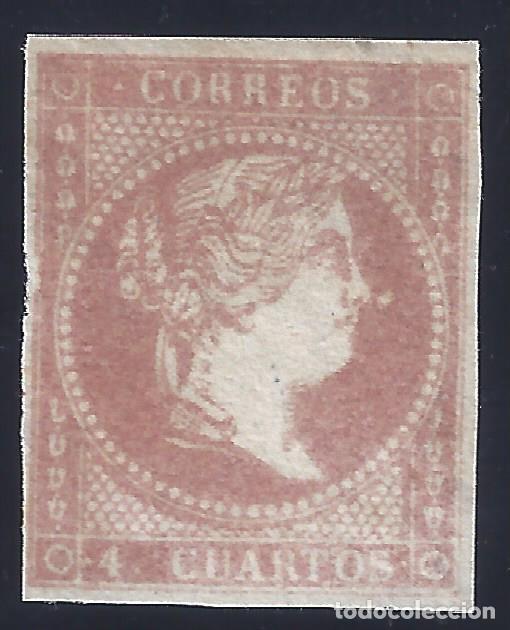 EDIFIL 48 B TIPO III. ISABEL II. AÑO 1859. PAPEL SIN FILIGRANA. VALOR CATÁLOGO: 95 €. LUJO. MNG. (Sellos - España - Isabel II de 1.850 a 1.869 - Nuevos)