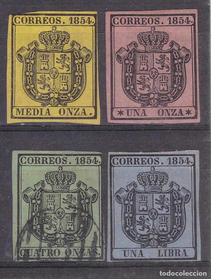 SS9- CLÁSICOS CORREO OFICIAL EDIFIL 28/ 31 (Sellos - España - Isabel II de 1.850 a 1.869 - Nuevos)