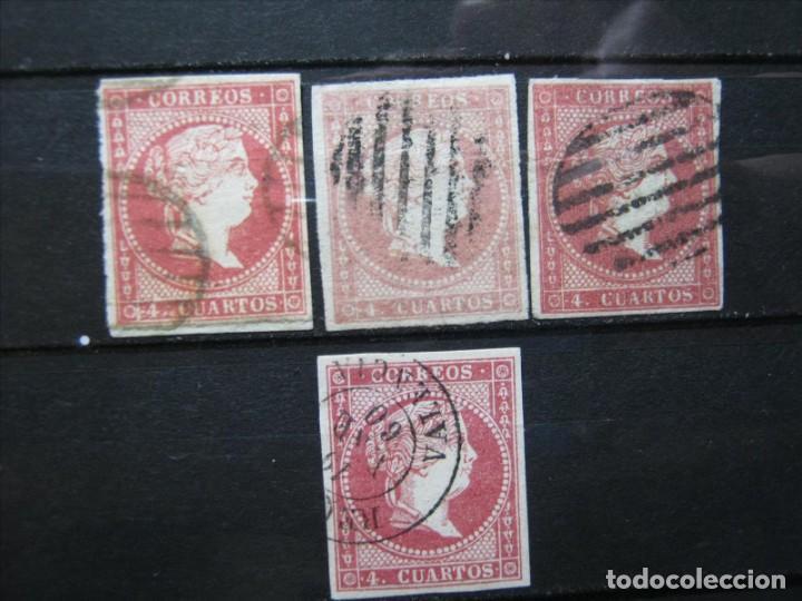 ISABEL II LOTE EDIFIL 48 USADOS PERFECTOS!!! (Sellos - España - Isabel II de 1.850 a 1.869 - Usados)