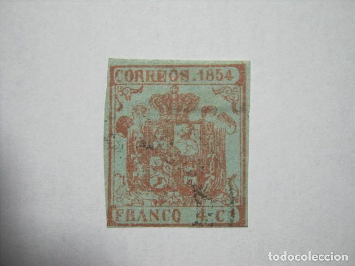 ISABEL II EDIFIL 33 AP PAPEL DELGADO AZULADO USADO PERFECTO!!! (Sellos - España - Isabel II de 1.850 a 1.869 - Usados)