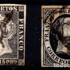 Timbres: ESPAÑA Nº 1, 6. AÑO 1850. Lote 244979455