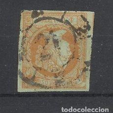 Sellos: ISABEL II 1860 EDIFIL 52 RUEDA DE CARRETA 21 BURGOS. Lote 245047305