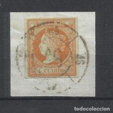 Sellos: ISABEL II 1860 EDIFIL 52 RUEDA DE CARRETA 46 TARRAGONA. Lote 245047830