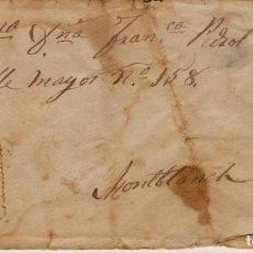 Sellos: AÑO 1879 SOBRE A MONTBLANCH MATASELLOS ROMBO FRANCISCO PUZOL DE BOVE. Lote 245073135