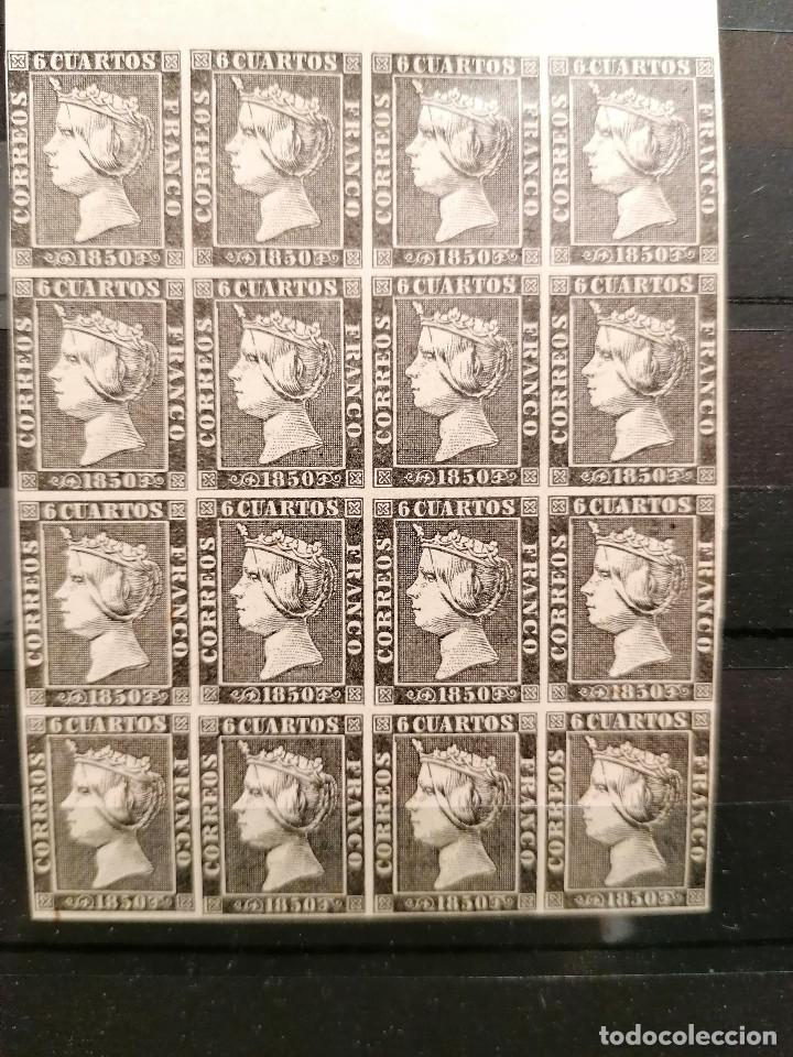 Sellos: España Falso Filatelico lote sellos 16 sellos pliego hoja nuevo Edifil 1 - años 1920 aprox - Foto 2 - 246143885