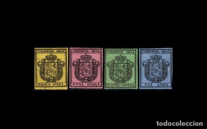 ESPAÑA - 1854 - ISABEL II - EDIFIL 28/31 - SERIE COMPLETA - MH* - NUEVOS - VALOR CATALOGO 122€. (Sellos - España - Isabel II de 1.850 a 1.869 - Nuevos)