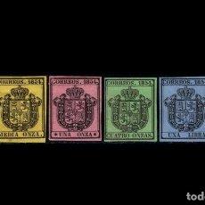 Sellos: ESPAÑA - 1854 - ISABEL II - EDIFIL 28/31 - SERIE COMPLETA - MH* - NUEVOS - VALOR CATALOGO 122€.. Lote 246594645