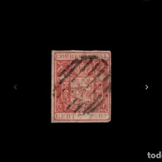 Sellos: ESPAÑA - 1854 - ISABEL II - EDIFIL 25 - MARQUILLADO - VALOR CATALOGO 147€.. Lote 246996850