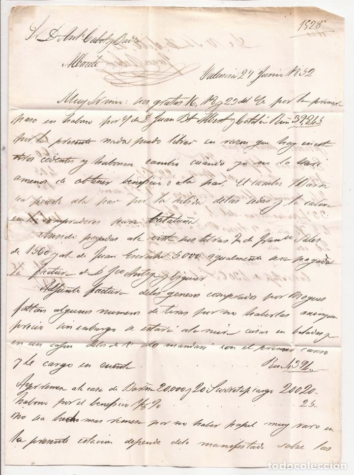 Sellos: 1852 Carta circulada de Valencia a Albacete Edifil 12(º) - Foto 2 - 250310605