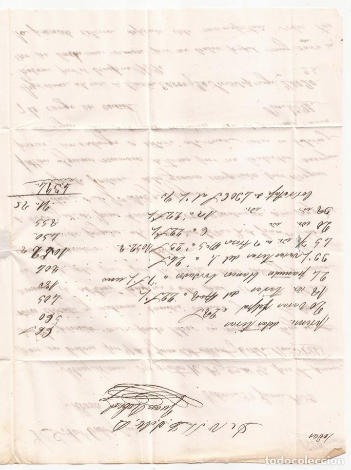 Sellos: 1852 Carta circulada de Valencia a Albacete Edifil 12(º) - Foto 3 - 250310605
