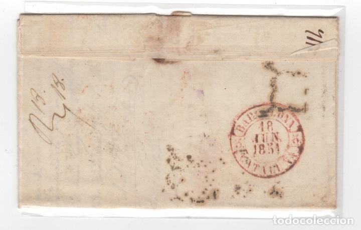 Sellos: 1851 Carta Circulada de Cartagena a Barcelona Edifil 6 VC 47,00 € - Foto 2 - 250311710