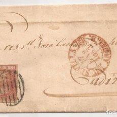 Sellos: 1852 SOBRE CIRCULADO DE SEVILLA A CADIZ EDIFIL 12(º). Lote 250312415