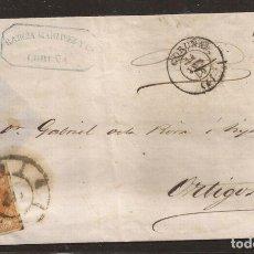 Sellos: 1860 ENVOLTURA CIRCULADA DE CORUÑA A ORTIGOSA EDIFIL 52. Lote 250315480