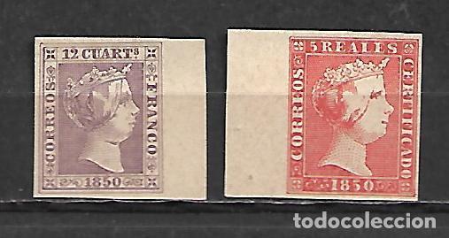 PRIMER CENTENARIO Nº 2 Y 3 DE ESPAÑA NUEVOS PERFECTOS (Sellos - España - Isabel II de 1.850 a 1.869 - Nuevos)