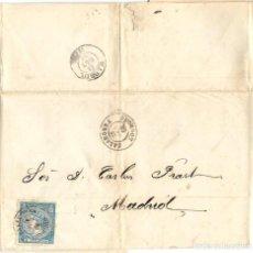 Sellos: 1866 (28 OCT) CARTA CALAHORRA, LA RIOJA (CONSERVAS) FECHADOR TIPO II SOBRE 4C. ISABEL II 1866. Lote 251729335