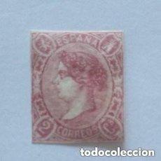 Sellos: ESPAÑA - 1865 - ISABEL II - EDIFIL 69 - MH* - NUEVO - VALOR CATALOGO 430€.. Lote 254100570