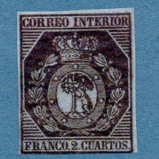 Sellos: EDIFIL 22/23 NUEVO * 2 CUARTOS 1853 ESCUDO DE MADRID ESPAÑA SPAIN NO CATALOGADO. Lote 254565675