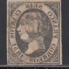 Sellos: ESPAÑA, 1851 EDIFIL Nº 6, 6 CU. NEGRO, CALCADO AL REVERSO, NO RESEÑADO. Lote 254810005