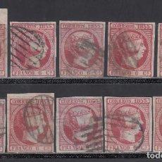 Sellos: ESPAÑA, 1853 EDIFIL Nº 17, 6 CU. ROSA. Lote 254811455