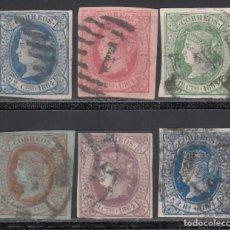 Sellos: ESPAÑA, 1864 EDIFIL Nº 63 / 68, SERIE COMPLETA, 6 VALORES. Lote 254911530