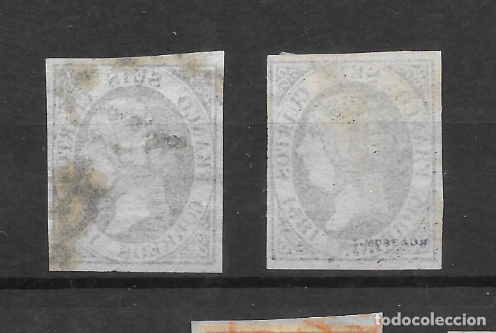 Sellos: ISABEL II EMISION DE 1851 EDIFIL 6. VARIEDADES DE COLOR DEL 6 CUARTOS - Foto 2 - 255506075