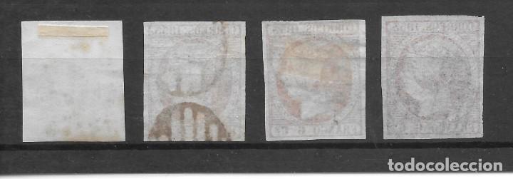 Sellos: ISABEL II EMISION DE 1853 EDIFIL 17. CUATRO 6 CUARTOS TONOS DE COLOR EJEMPLARES DE LUJO - Foto 2 - 255509830