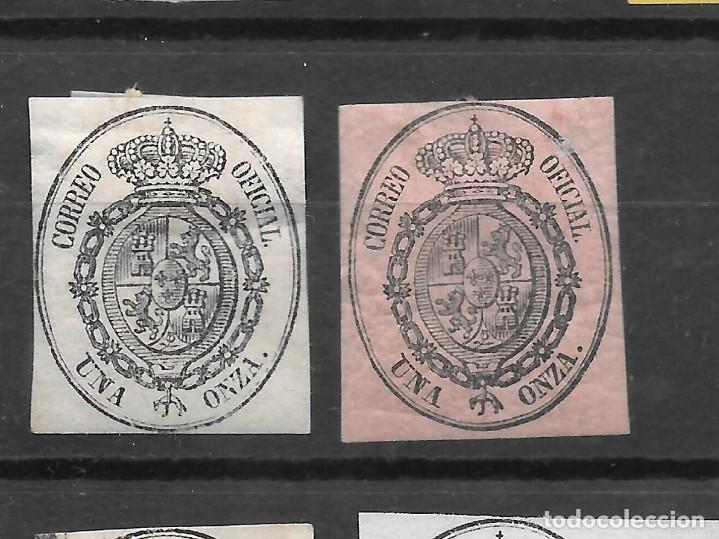 ISABEL II SERVICIO OFICIAL 1855 EDIFIL 36. DOS SELLOS DIVERSOS TONOS DE COLOR (Sellos - España - Isabel II de 1.850 a 1.869 - Usados)