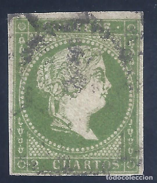 EDIFIL 47 ISABEL II. AÑO 1855. SIN FILIGRANA. MATASELLOS RUEDA DE CARRETA. VALOR CATÁLOGO: 59 €. (Sellos - España - Isabel II de 1.850 a 1.869 - Usados)