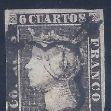 Sellos: EDIFIL 1A. ISABEL II. AÑO 1850. MATASELLOS DE ARAÑA NEGRA. PAPEL FINO.. Lote 257340690