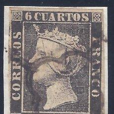 Sellos: EDIFIL 1A. ISABEL II. AÑO 1850. MATASELLOS DE ARAÑA NEGRA. SOBRE FRAGMENTO. MARQUILLADO ROIG. LUJO.. Lote 257346105