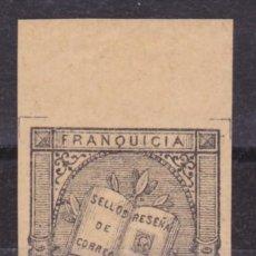 Sellos: B93A FRANQUICIAS POSTALES Nº 2 ** PLENA GOMA ORIGINAL Y SIN SEÑAL DE FIJAELLOS BOTDE DE HOJA LUJO. Lote 259931885