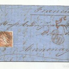 Sellos: CIRCULADA Y ESCRITA 1866 DE ZARAGOZA A ANNONAY FRANCIA. Lote 260512480