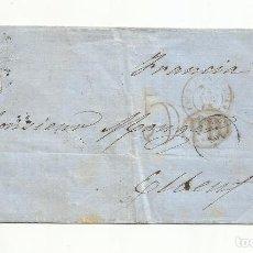 Sellos: CIRCULADA 1865 DE OVIEDO A ELBENT FRANCIA. Lote 260513195