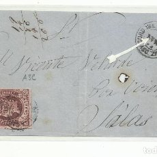 Sellos: FRONTAL CIRCULADA AMBULANTE ASCENDENTE 1862 CORDOBA SEVILLA CADIZ. Lote 260514805