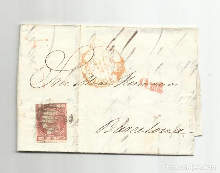CIRCULADA Y ESCRITA 1862 DE MADRID A BARCELONA (Sellos - España - Isabel II de 1.850 a 1.869 - Cartas)