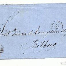 Sellos: FRONTAL CIRCULADA 1864 DE BARCELONA A BILBAO. Lote 260624170