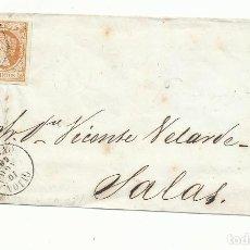 Sellos: FRONTAL CIRCULADA 1860 DE GIJON A SALAS OVIEDO. Lote 260624520
