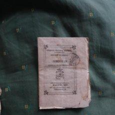 Sellos: MATASELLOS MADRID, AÑO 1859. FRANCO DE PAGO, SOBRE LIBRITO POR ENTREGAS BIBLIOTECA UNIVERSAL. Lote 260643130