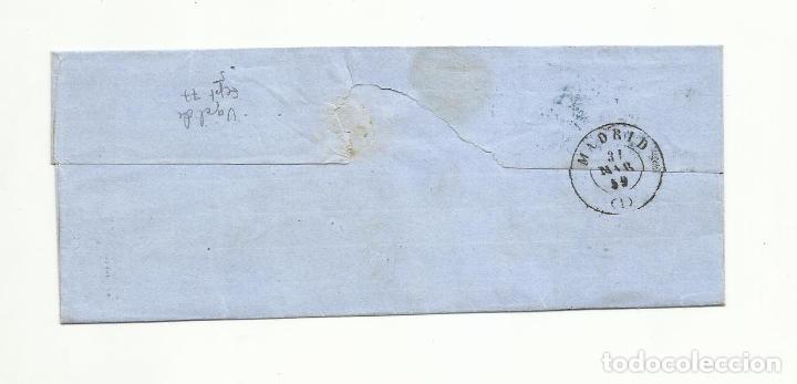 Sellos: ENVUELTA circulada 1859 DE VERGARA GUIPUZCOA A MADRID - Foto 2 - 260671460