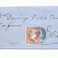Sellos: ENVUELTA CIRCULADA 1859 DE VERGARA GUIPUZCOA A MADRID. Lote 260671460