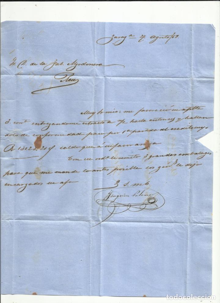 Sellos: circulada Y ESCRITA 1858 DE ZARAGOZA A REUS - Foto 2 - 260672030