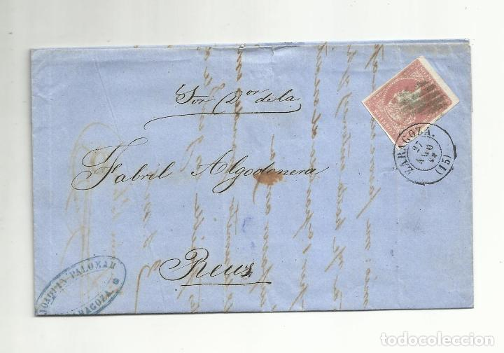 CIRCULADA Y ESCRITA 1858 DE ZARAGOZA A REUS (Sellos - España - Isabel II de 1.850 a 1.869 - Cartas)